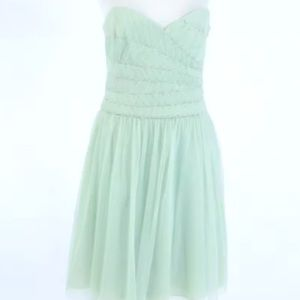 MaxAzria BCBG Mint beaded Strapless Dress Sz 6 8